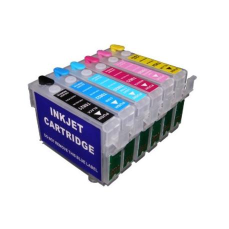ПЗК Epson P50, P59, PX660, PX720, PX730, PX820, PX830 (комплект 6 шт.) повышенной емкости (T079) IST