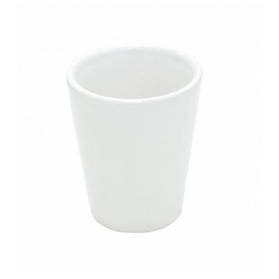 Рюмка белая керамическая,...
