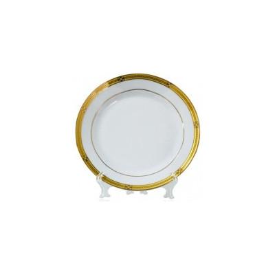 Тарелка белая, каемка с...