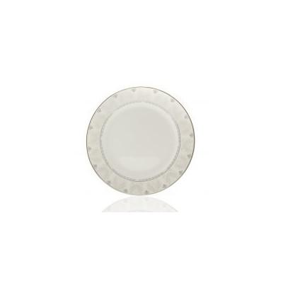 Тарелка фарфор белая с...