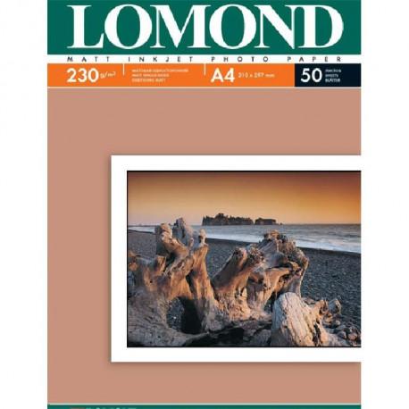 А4 230 г/м 50 л матовая одностор. lomond