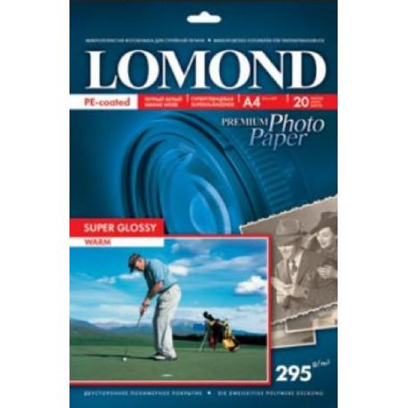 A4 295 г/м  20л Super Glossy (Warm) LOMOND (1108101)