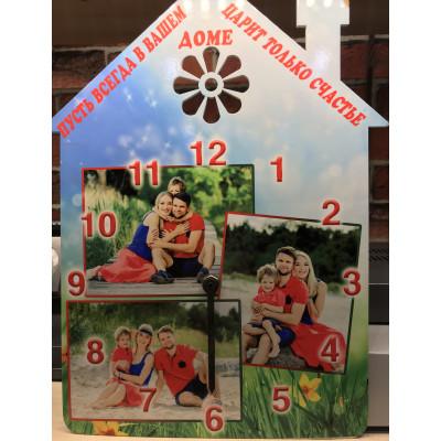 """Часы деревянные """"Дом"""" с..."""