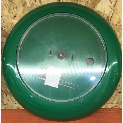 Часы акриловые D30 см зеленые
