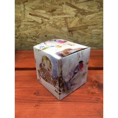 Коробка под кружку Снегири