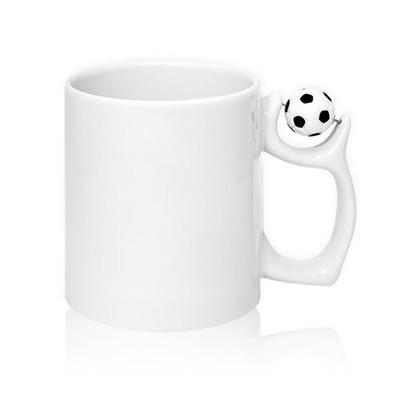 Кружка белая, с футбольным...